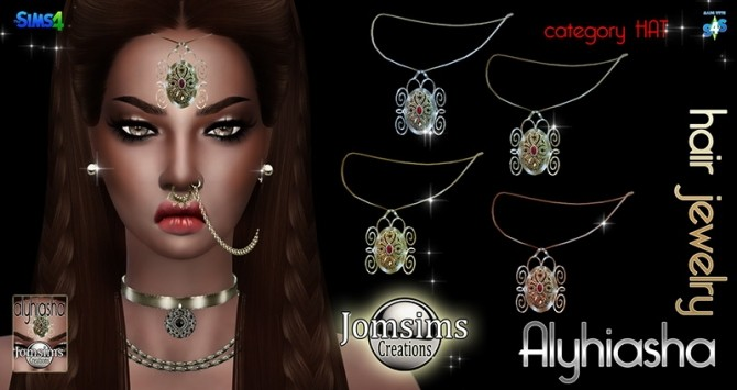Sims 4 Alyhiasha hair jewelry at Jomsims Creations