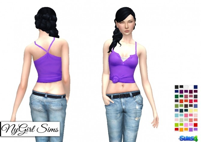 Racerback Collared Knot Tank at NyGirl Sims image 7315 670x473 Sims 4 Updates