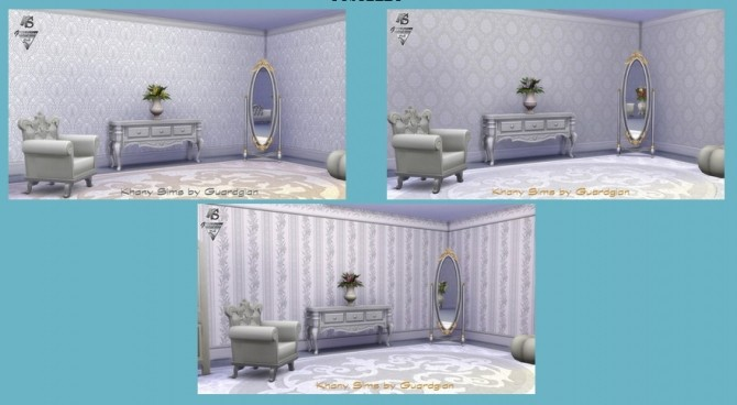 Sims 4 COSTELLO walls by Guardgian at Khany Sims