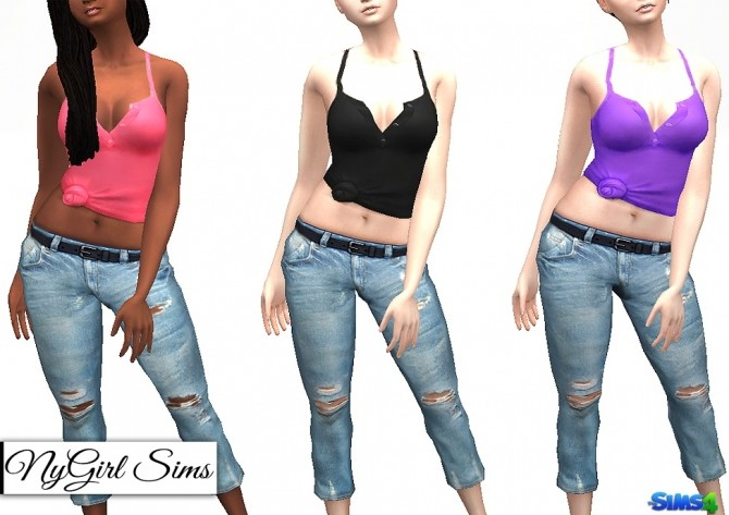 Racerback Collared Knot Tank at NyGirl Sims image 7416 670x473 Sims 4 Updates