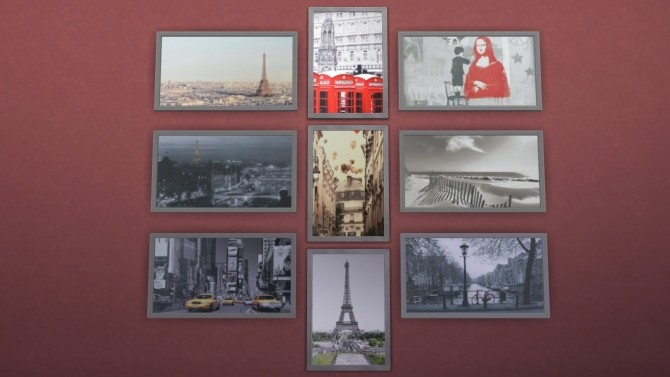 Sims 4 VÄGGDEKORATIONER Collection 1 by Deontai at Mod The Sims
