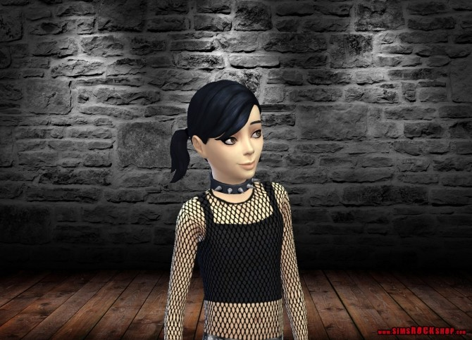 Sims 4 Spiked Choker Necklace for Kids by FrankVjecy at Mod The Sims