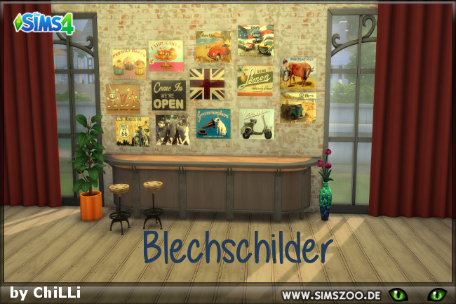 Sims 4 Posters 1 by ChiLLi at Blacky's Sims Zoo