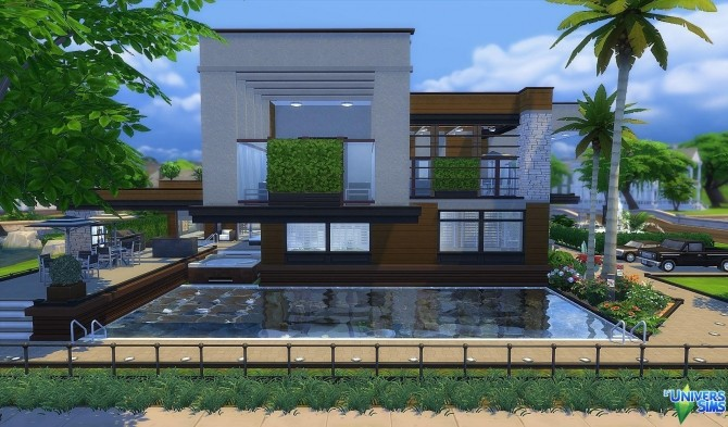 Sims 4 Modern Abstract NewCrest by Vanderetro at L'UniverSims