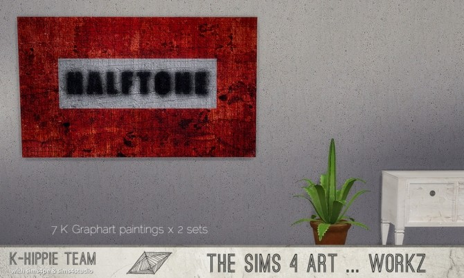 Sims 4 K Graphart 7 Paintings sets 1&2 at K hippie