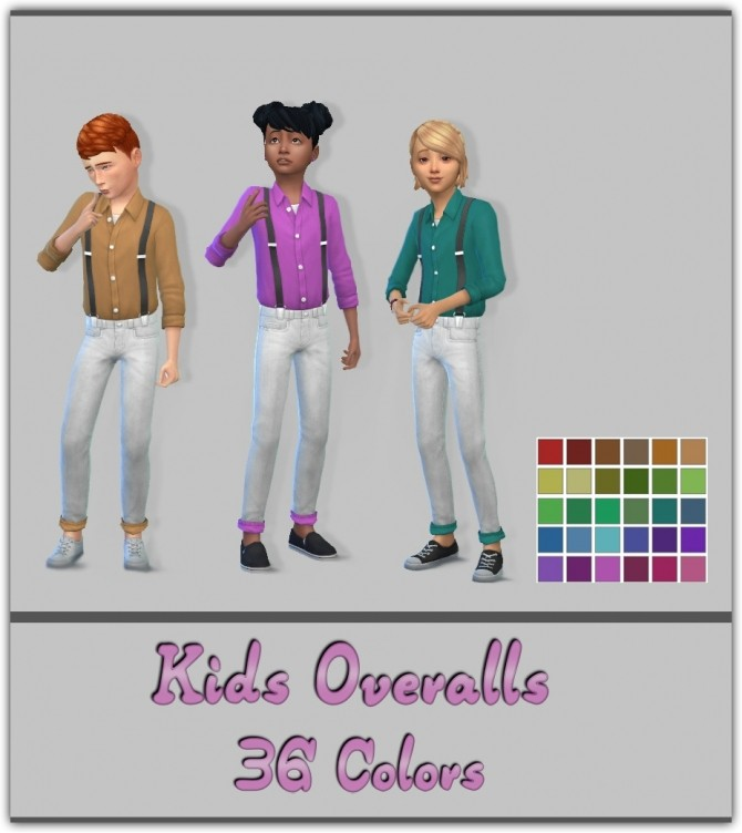 Sims 4 Kids Overalls Recolors at Maimouth Sims4
