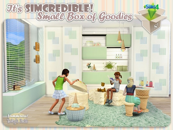 Sims 4 Yumminess box of goodies + full set by SIMcredible at TSR