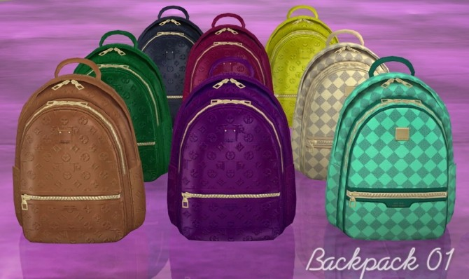 Sims 4 Backpacks clutter at Helen Sims