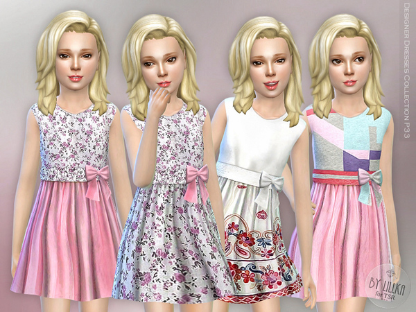 Sims 4 Designer Dresses Collection P33 by lillka at TSR