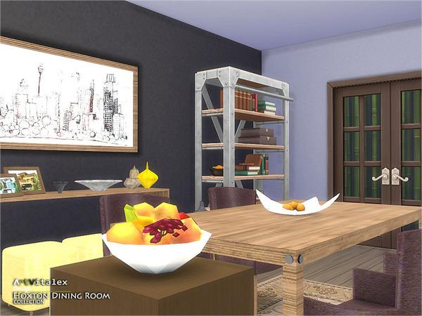 Sims 4 Hoxton Dining Room by ArtVitalex at TSR