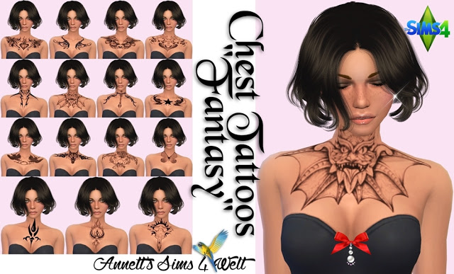 Fantasy Chest Tattoos at Annett's Sims 4 Welt image 8217 Sims 4 Updates