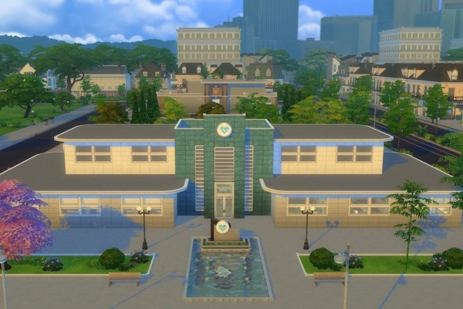 Sims 4 Goth Memorial Hospital by alexpilgrim at Mod The Sims