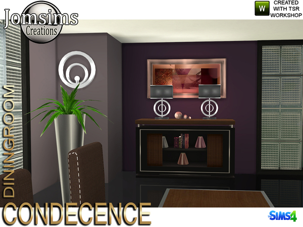 Condecence diningroom by jomsims at TSR image 828 Sims 4 Updates