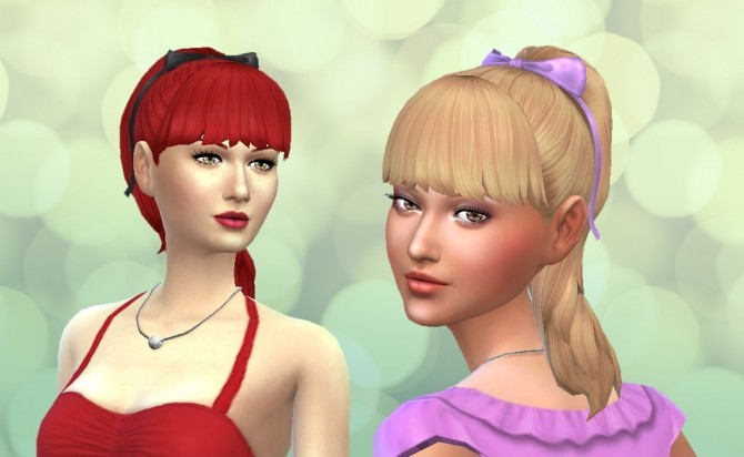 Sims 4 High Ponytail with Bangs by Kiara Zurk at My Stuff