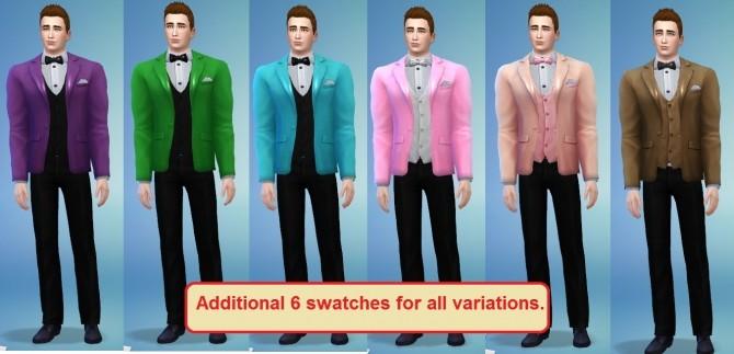 Sims 4 Tuxedo Top 3 variants by monkeysimmy4 at SimsWorkshop