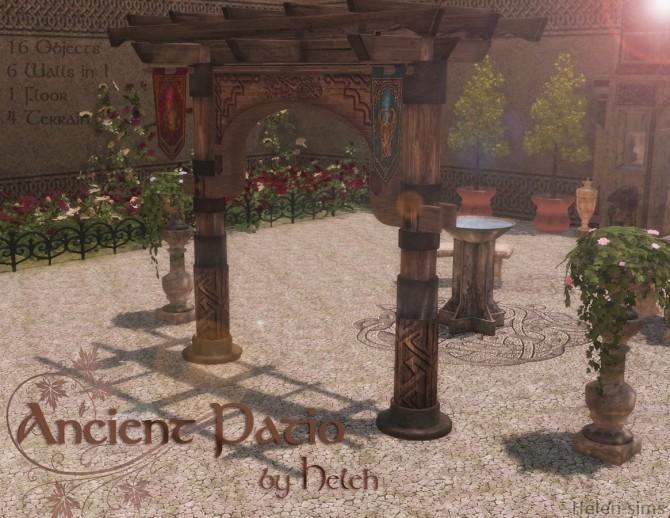 Ancient Patio at Helen Sims image 8711 670x518 Sims 4 Updates