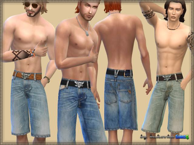Sims 4 Shorts Jeans at Bukovka