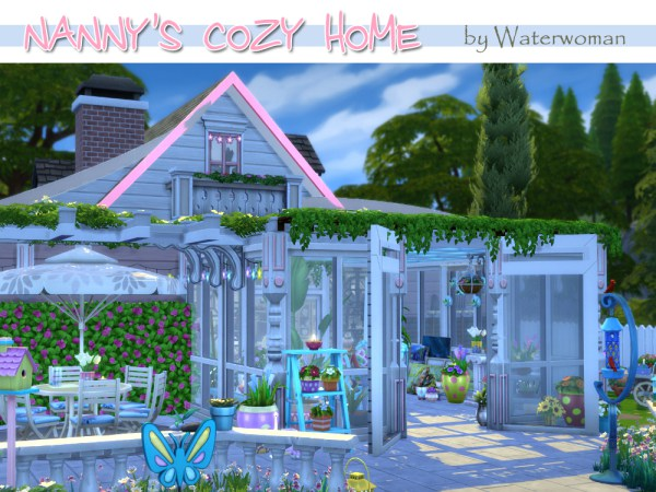 Sims 4 Nanny's Cozy Home by Waterwoman at Akisima