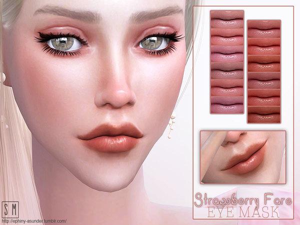 Sims 4 Strawberry Fare Lip Gloss by Screaming Mustard at TSR