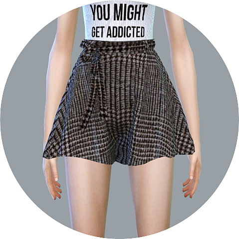 Sims 4 Skirt Pants With Belt at Marigold