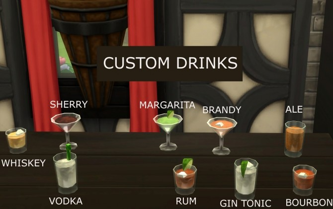 Drinks And Food The Sims  Mod