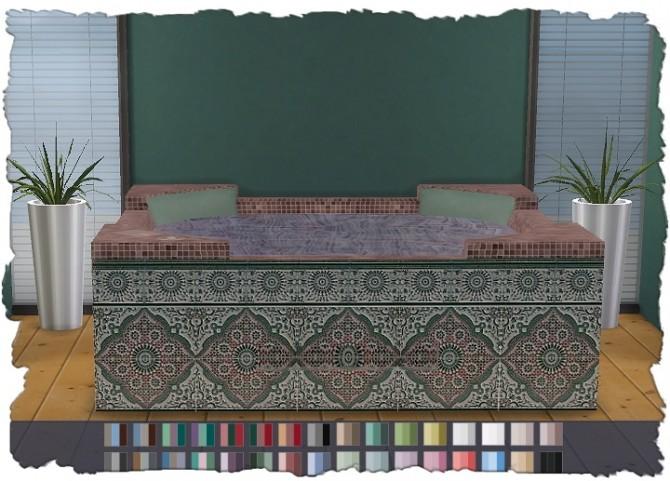 Hot Tub Mosaic V1 at Pixel Shrine – Devilicious image 999 670x481 Sims 4 Updates