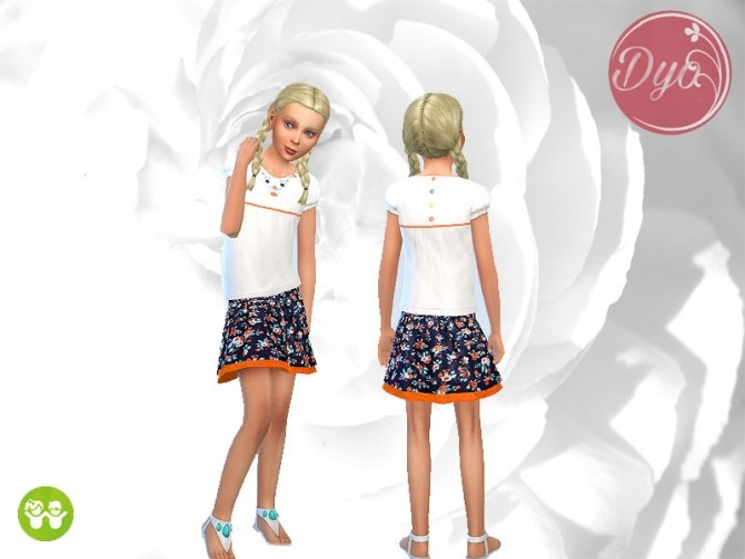 Sims 4 Ethnic outfit CF by Dyokabb at Les Sims4