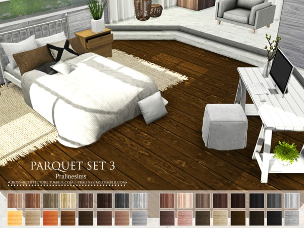 Parquet Set 3 by Pralinesims at TSR image 1006 Sims 4 Updates