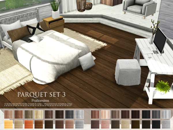 Parquet Set 3 by Pralinesims at TSR image 10111 Sims 4 Updates