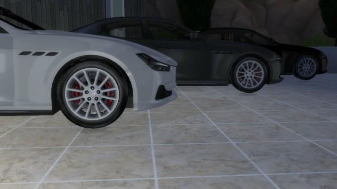 Sims 4 Maserati Ghibli Q4 at LorySims