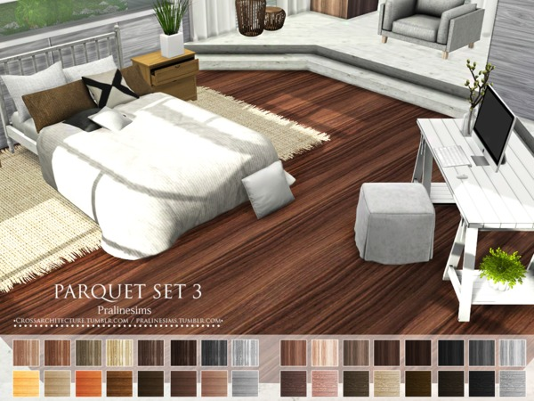Parquet Set 3 by Pralinesims at TSR image 1037 Sims 4 Updates
