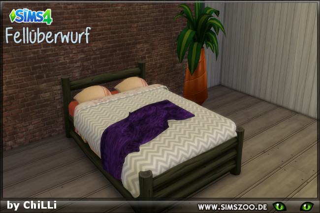 Fur blanket by ChiLLi at Blacky's Sims Zoo image 1038 Sims 4 Updates