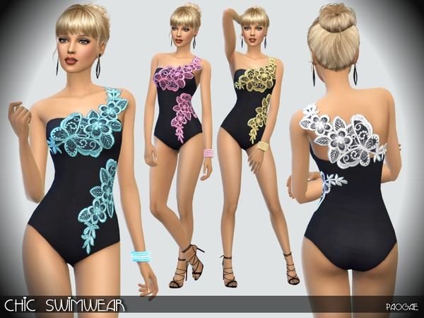 Chic Swimwear by Paogae at TSR image 1067 Sims 4 Updates