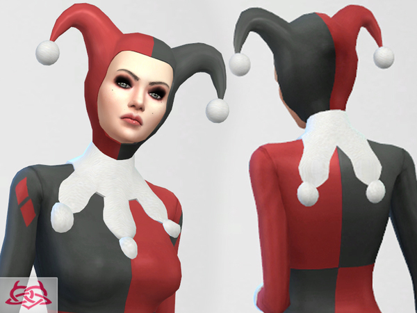 Set Hat/Outfit/Shoes Harley Quinn by Colores Urbanos at TSR image 1097 Sims 4 Updates