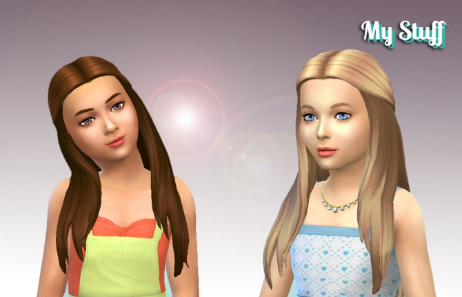 Innovation Hair For Girls By Kiara Zurk At My Stuff 187 Sims