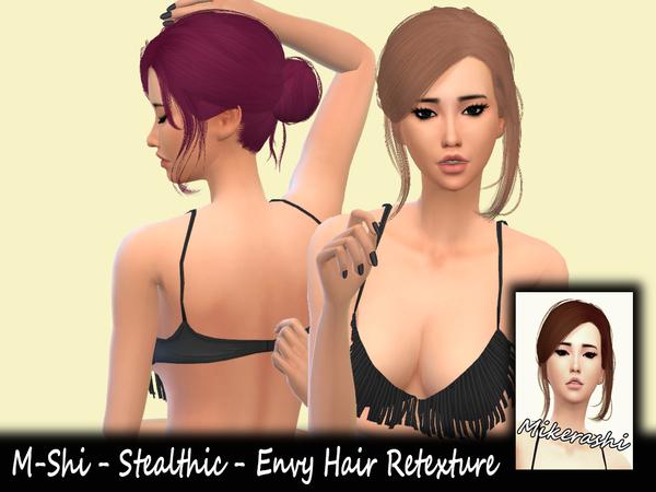 Sims 4 M Shi Stealthic Envy Hair Retexture at TSR