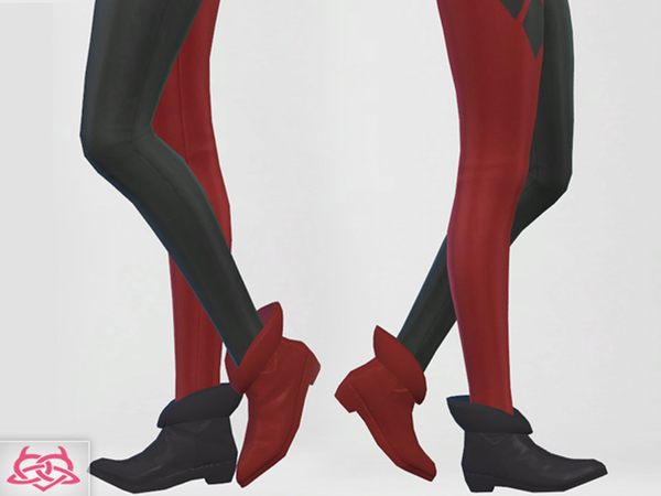 Set Hat/Outfit/Shoes Harley Quinn by Colores Urbanos at TSR image 11010 Sims 4 Updates