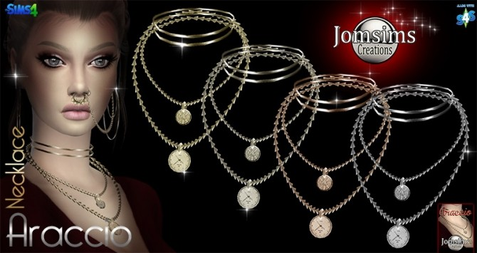 Sims 4 Araccio necklace at Jomsims Creations