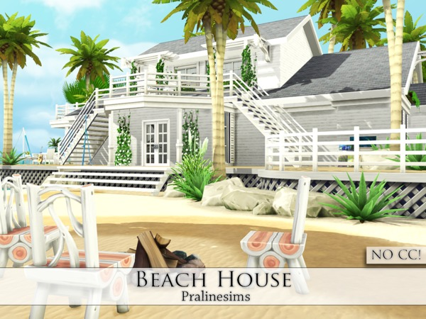 Beach house by pralinesims at tsr sims 4 updates for Beach house 3 free download