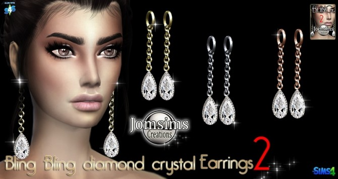 Sims 4 Bling Bling 2 Earrings at Jomsims Creations