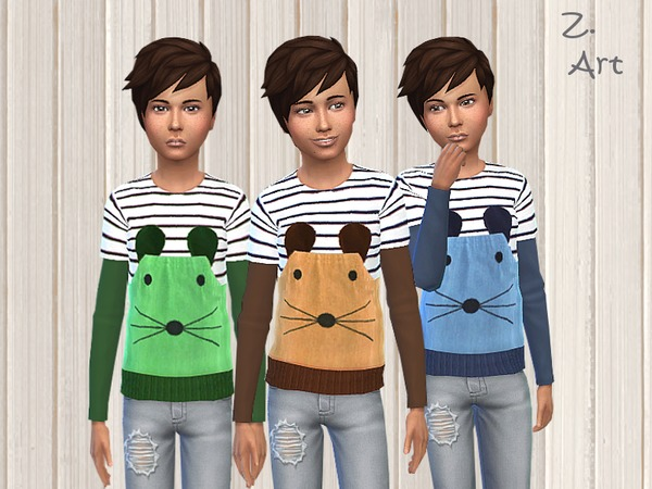 Mouse Attack sweatshirt by Zuckerschnute20 at TSR image 1112 Sims 4 Updates