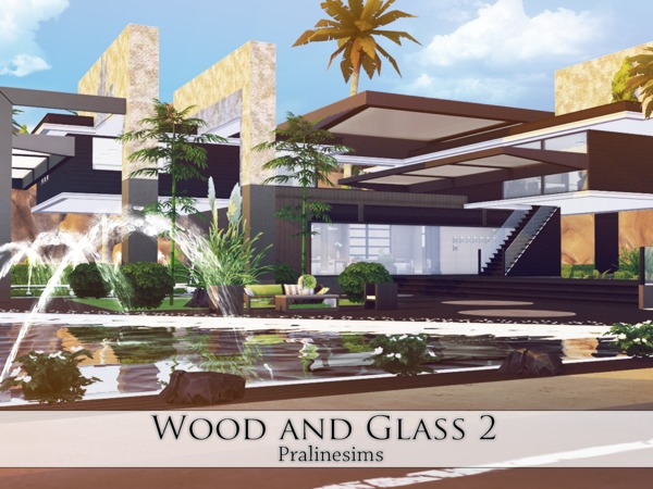 Wood and Glass 2 house by Pralinesims at TSR image 1114 Sims 4 Updates