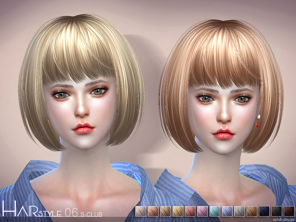 Sims 4 Hair N6 by S Club at TSR