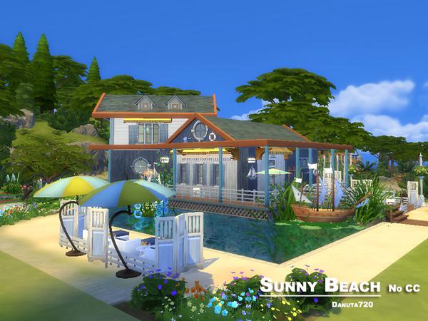 Sunny Beach house by Danuta720 at TSR image 1135 Sims 4 Updates