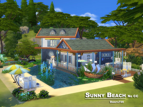 Sunny Beach house by Danuta720 at TSR image 1147 Sims 4 Updates