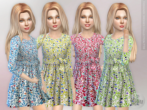 Designer Dresses Collection P39 by lillka at TSR image 1150 Sims 4 Updates