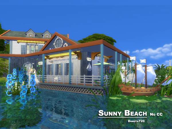 Sunny Beach house by Danuta720 at TSR image 1157 Sims 4 Updates