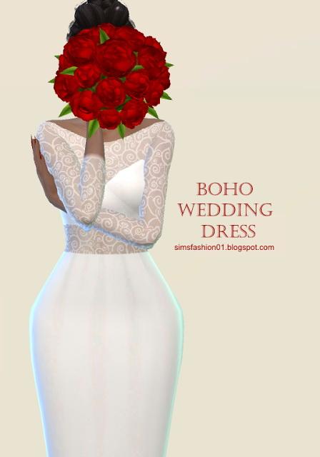 Boho Wedding Dress at Sims Fashion01 image 118 Sims 4 Updates