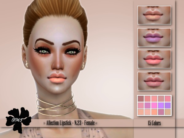 Sims 4 IMF Affection Lipstick N.23 by IzzieMcFire at TSR