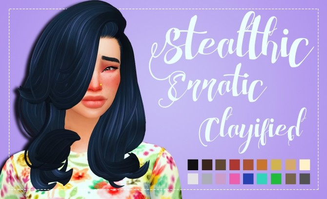Stealthics Erratic Hair Clayified by Weepingsimmer at SimsWorkshop image 1195 670x408 Sims 4 Updates